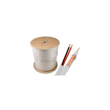 Cable coaxial rg-59 bobina de 100 metros+2h.alimentacion