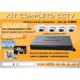 Kit de video vigilancia mod: KIT5M1080INT